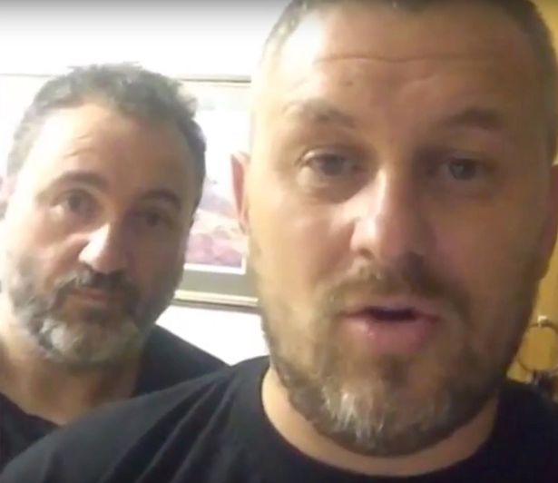 Lee Roberts (right) and Paul Stevenson were doing a practice live broadcast from the notorious poltergeist hotspot