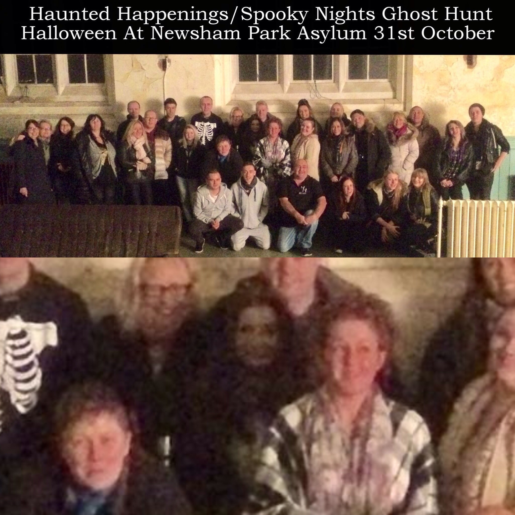 Did A Ghost Take Part In This Group Photo On A Halloween